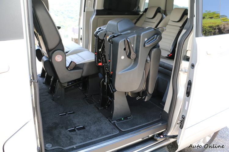 座椅調整的彈性高,不管用來載人還是載貨都很輕鬆。