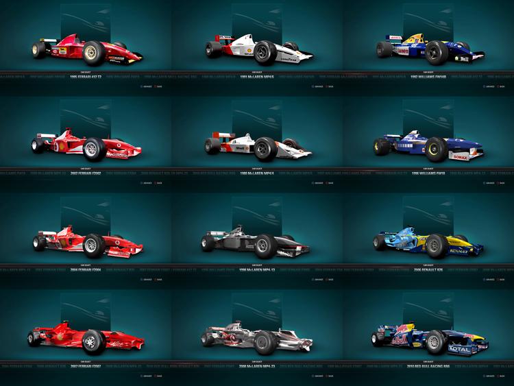 除了豐富的賽事,12款經典賽車也收錄在F1 2017中。