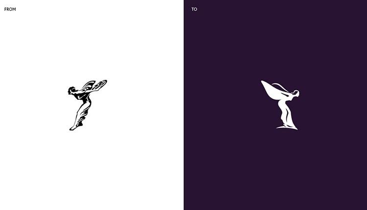 比起先前的標誌簡化許多,捨棄了原有反光與陰影的呈現,提升女神腰圍、體態、翅膀及臉孔的精緻度。