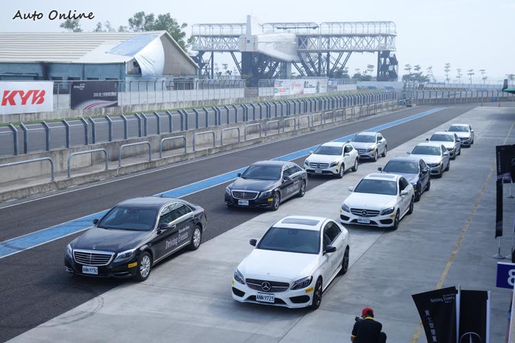 本次台灣賓士提供多款新車作為訓練用車。
