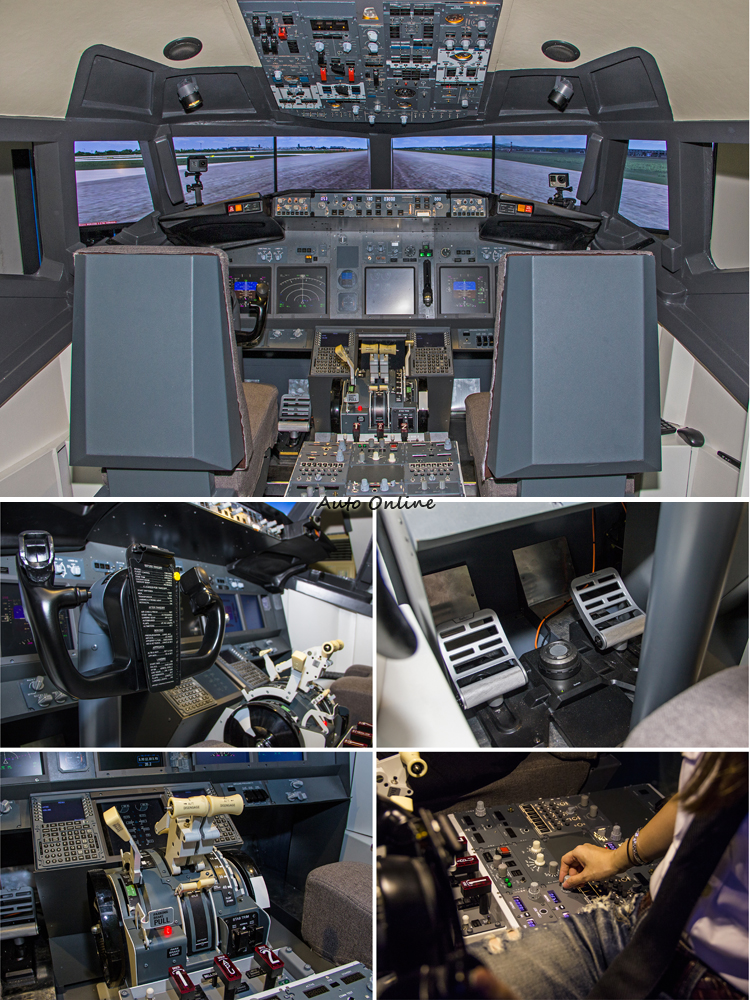 完整呈現波音737-800客機駕駛艙內部設備。