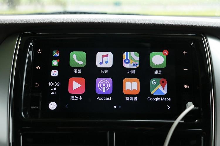 車主可以選配升級支援Apple Carplay。