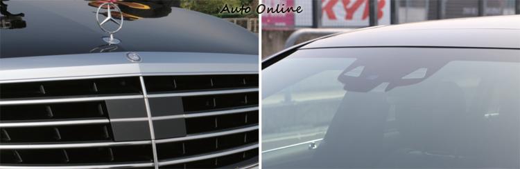 智慧駕駛輔助系統透過車頭的雷達與攝影機偵測障礙物。