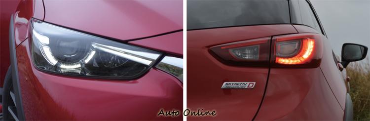 前後車燈無論是造型或內部燈條都相互呼應。