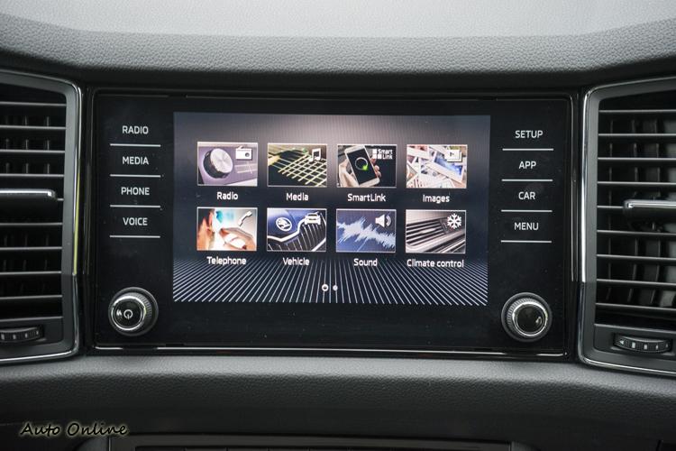 八吋彩色觸控螢幕之影音資訊系統。