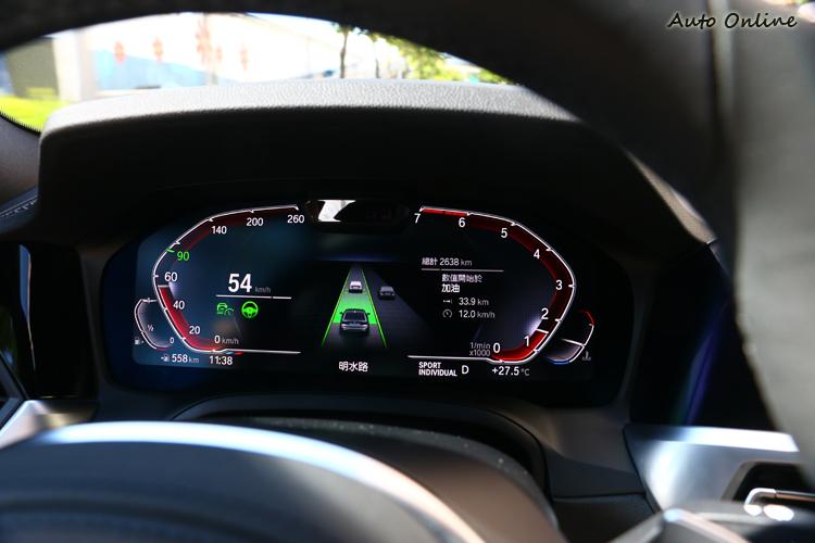 安全性方面標準配備BMW Personal CoPilot智慧駕駛輔助科技,主動跟車與車道維持系統可降低駕駛疲勞感。